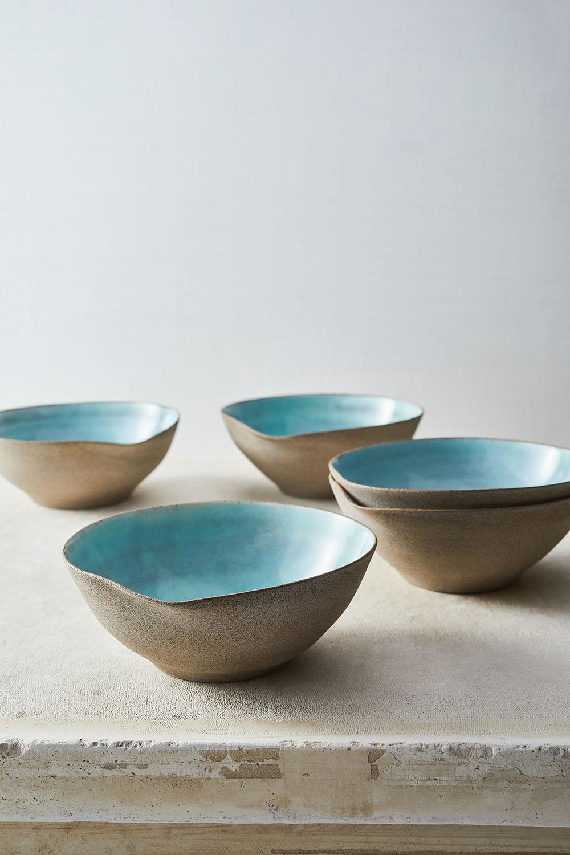 Celadon light blue small bowls 13xh6
