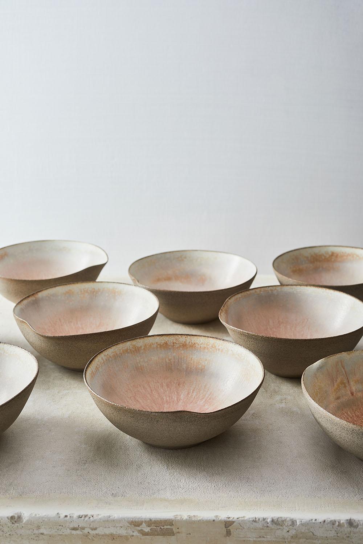 Volcano pink dessert bowls 13xh6